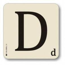 Letter D Coaster