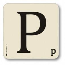 Letter P Coaster