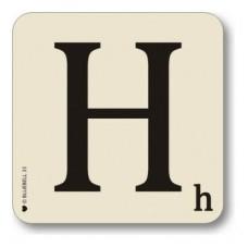 Letter h place mat