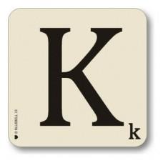Letter k place mat