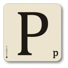 Letter p place mat