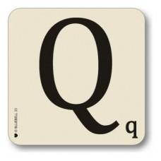 Letter Q place mat