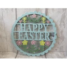 Wooden Happy Easter Plaque