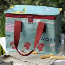 World Map Lunch Bag