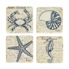 Vintage Sea Creatures Coaster set
