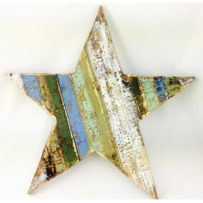 Lrg Wooden star wall art