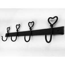 iron work heart hooks