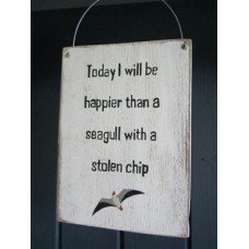seagull with chip sign