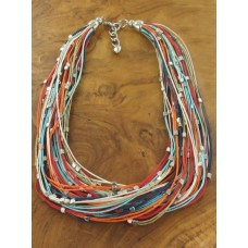 Multi strand colour necklace