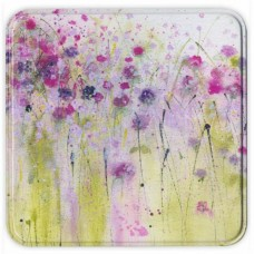 Wild violets notelet tin