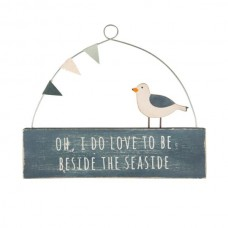Beside the seaside seagull hanging plaque