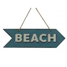 Double sided wooden Beach Sign