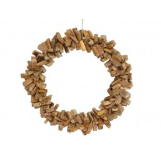 Round wooden wreath