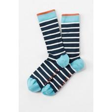 Mens Sailor Socks Chunky Breton Night