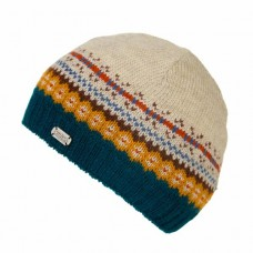 KuSan Pull on Cap Teal & Oatmeal