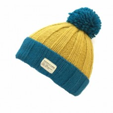 KuSan blue & yellow  turn-up bobble