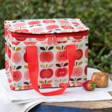 Vintage apples recycled lunch bag