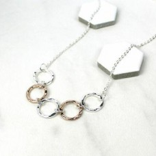 5 mixed hoops Necklace