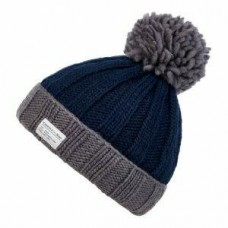 Kusan bobble hat grey navy