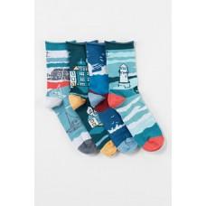 Postcard box of 4 socks womens