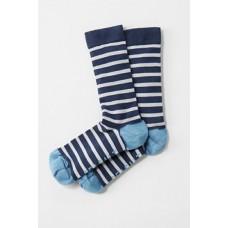 SEASALT CORNWALL Mens Sailor Socks Breton Night Beachwood
