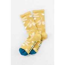 Womens Floral Feet Socks Bees Hay