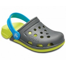 CROCS Kids Electro III Clog in Slate Grey