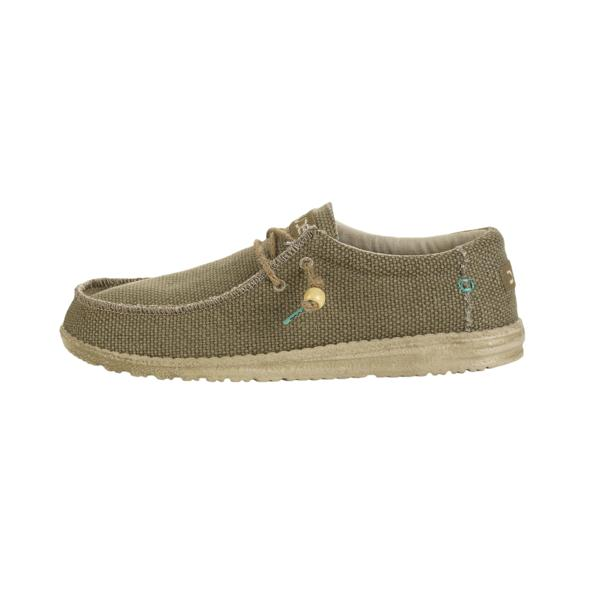 HEY DUDE HEY DUDE Wally Natural Braided in Sage Organic Cotton was £49.95