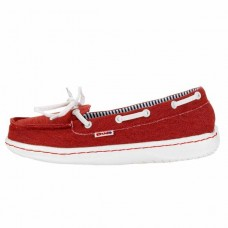 Hey Dude Moka Classic Red Canvas Shoes