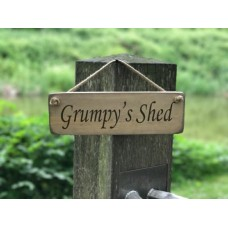 Grumpy's shed sign