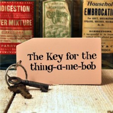 Thing-a-me-bob Wooden Key Ring
