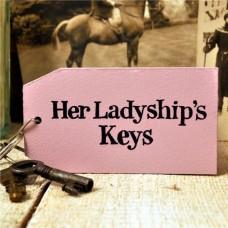 Her Ladyship Wooden Key Ring
