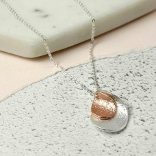 Silver And Rose Gold Plated Nesting Twists Necklace