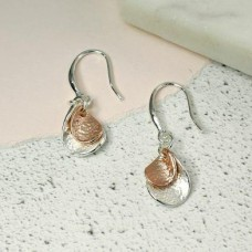 Silver And Rose Gold Plated Nesting Twists Earrings