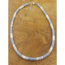 Sequin necklace grey mix