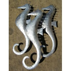 Trio of seahorses wall art