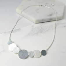 Enameled Disc Snake Chain Necklace