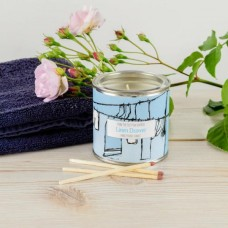 Linen Draw Large Tin Candle