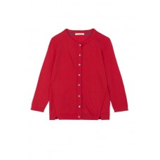 Lagoon Button Cardi Cherry Red