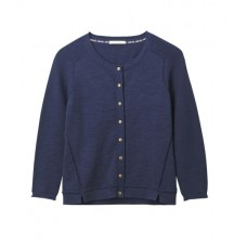 Lagoon Button Cardi Wave Wash Blue