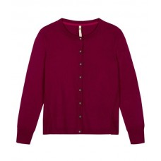 WHITE STUFF Edo Pocket Button Cardi Japan Red Plain was £45