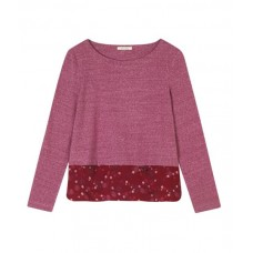 WHITE STUFF Helena Texture Jersey Tee Pepper Red was £32.50