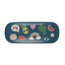 Patches and pins glasses case