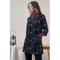 SEASALT CORNWALL Boat Yard Tunic Book Cover Floral Dark Night was £69.95