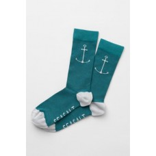 SEASALT CORNWALL Mens Sailor Socks Ahoy Dark Lake One Size