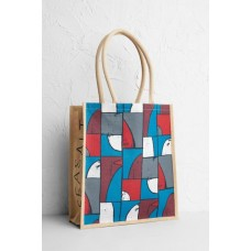 Jute Shopper Constructivist Boats Night One Size