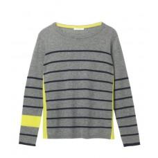 WHITE STUFF Ava Stripe Jumper Grey Mix Stripe