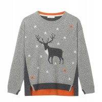 WHITE STUFF Maurice Moose Jumper Grey