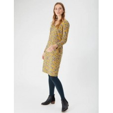 WHITE STUFF Dornoch Dress Seed Pod Chartreuse Print