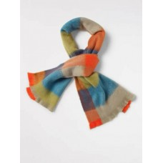 WHITE STUFF Ferne Check Colourblock Scarf MULTI was £35